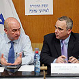 Committee members Vilnai (L) and Steinitz Photo: Gil Yohanan