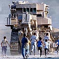 IDF bulldozer in action (archive photo) Photo: AP