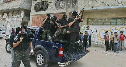 Hamas forces in Gaza. 2007 (Photo: AFP)