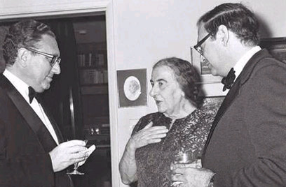 Kissinger meets with PM Golda Meir. Photo: Moshe Milner, GPO