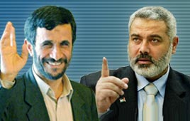 Ismail Haniyeh and Mahmoud Ahmadinejad Photo: AP