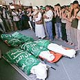 Funerals for Gaza beach blast victims Photo: Reuters