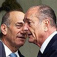 Prime Minister Ehud Olmert with French President Jacques Chirac Photo: AP