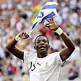 Pantsil with flag Photo: AP