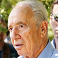Peres. 'Palestinians punishing themselves' Photo: Uriel Hershko