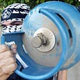 Palestinian shows off explosive device Photo: Reuters