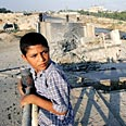 Palestinian child in Gaza Photo: Reuters