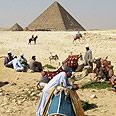 The Giza pyramids Photo: AP