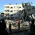 Gaza: Aftermath of strike Photo: Reuters
