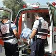 Evacuating injured to Nahariya hospital Photo: Niv Calderon