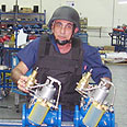 Factory worker in kibbutz Evron, next to Nahariya 