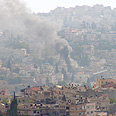 Rocket hits Nazareth. 'Praying for a miracle' Photo: Yarden Mazor