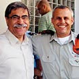 Nazareth Mayor Ramez Jaraisi (L) with Home Front Command Chief Maj.-Gen. Yitzhak Gershon Photo: Ahiya Raved