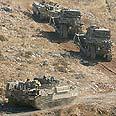 IDF tanks near Bint Jbeil Photo: AP