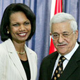 Rice and Abbas Photo: Reuters