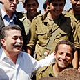 Defense minister, Amir Peretz visiting troops Photo: Defense Ministry