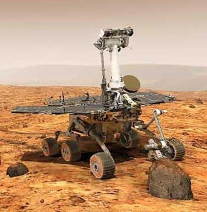 Spirit spacecraft on Mars (Photo: Nasa)