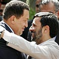 Iranian President Mahmoud Ahmadinejad with President Hugo Chavez Photo: Reuters
