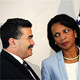 Rice with Peretz Photo: AP