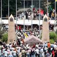 Demonstrators in Beirut Photo: Reuters