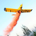 Firefighter plane over Kiryat Shmona Photo: Hagai Aharon