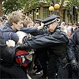Protestors in London clash with police Photo: Reuters