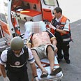 Ijured evacuated in Kiryat Shmona Photo: Hagai Aharon