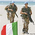 Italian troops in Lebanon Photo: AP