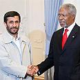 Anna with Iranian President Mahmoud Ahmadinejad this week Photo: AP