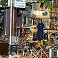 Tel Aviv cafe after bombing Photo: Michal Karmer