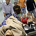 Palestinian casualties evacuated to hospital Photo: AP