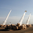 Iranian missile test Photo: AFP