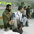 Palestinian injured in Beit Hanoun Photo: AFP