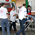 Injured evacuated after attack Photo: Amir Cohen