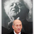 'Stop violence and terror.' Olmert at Sde Boker Photo: Amir Cohen