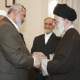 Haniyeh and Khamenei Photo: Reuters