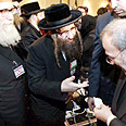 Neturei Karta reps at conference Photo: Reuters