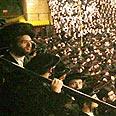 Members of the Satmar community