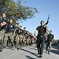 Fatah gunmen in streets Photo: AFP