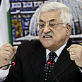 Abbas' speech Photo: AP