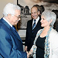 Abbas meets PM's wife Aliza Photo: Avi Ochayon, GPO
