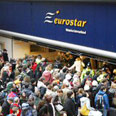 Eurostar station, Friday Photo: AFP