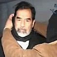 Saddam on the gallows Photo: Reuters