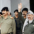 Saddam with Arafat in 1988 Photo: Reuters