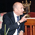 Olmert during meeting with Mubarak Photo: Amos Ben Gershom, GPO