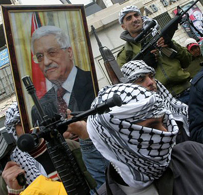 Fatah rally in Gaza Photo: AFP