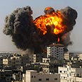 Shelling in Gaza Photo: AP