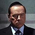 Took his time. Berlusconi at Yad Vashem Photo: AP