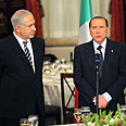 'Clear vision.' Netanyahu (L) and Berlusconi Photo: Ilan Moskowitz