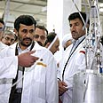 Ahmadinejad at Iranian nuclear facility (Ardhives) Photo: AP
